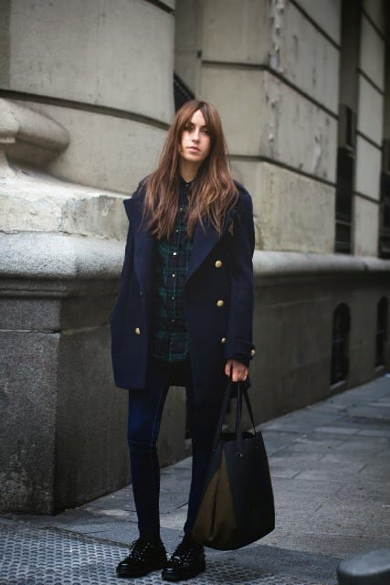 34e9e8760 Outfit with Navy Blue Coat - 22 Ways to Wear Navy Blue Coat