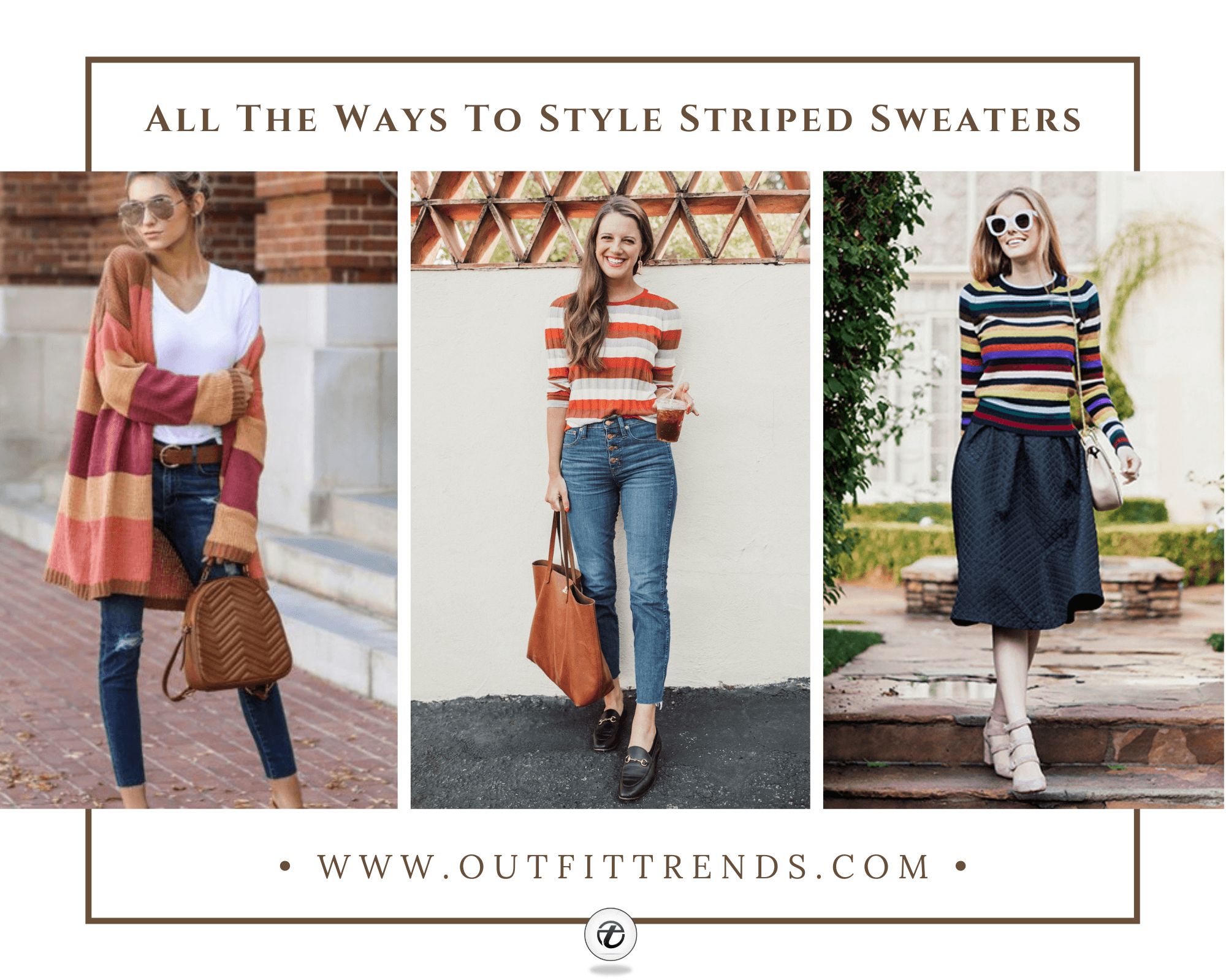 Striped Sweater Trend- 29 Ways to Wear Sweaters with Stripes