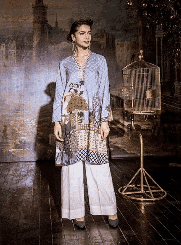 how to wear kurti with palazzo