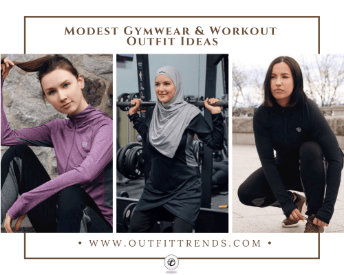 modest gym outfits