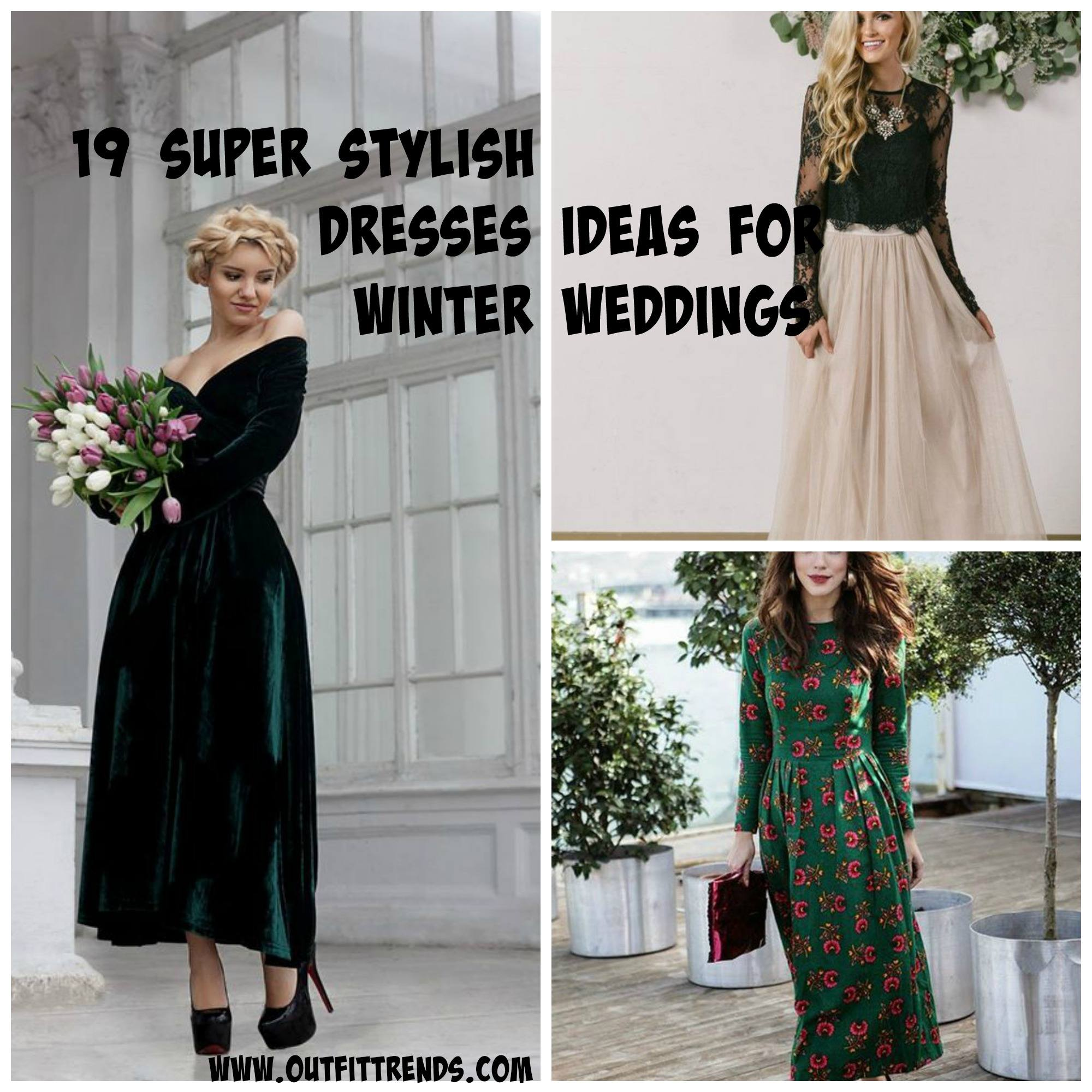 Outfits for Winter Wedding,19 Best Winter Dresses for Wedding