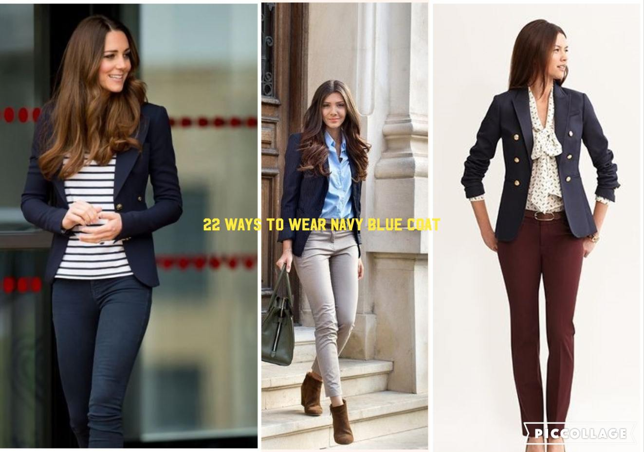 77595edbcbc00 Outfits with Navy Blue Coat -22 Ideas to Wear Navy Blue Coats