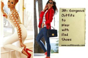outfits with red shoes