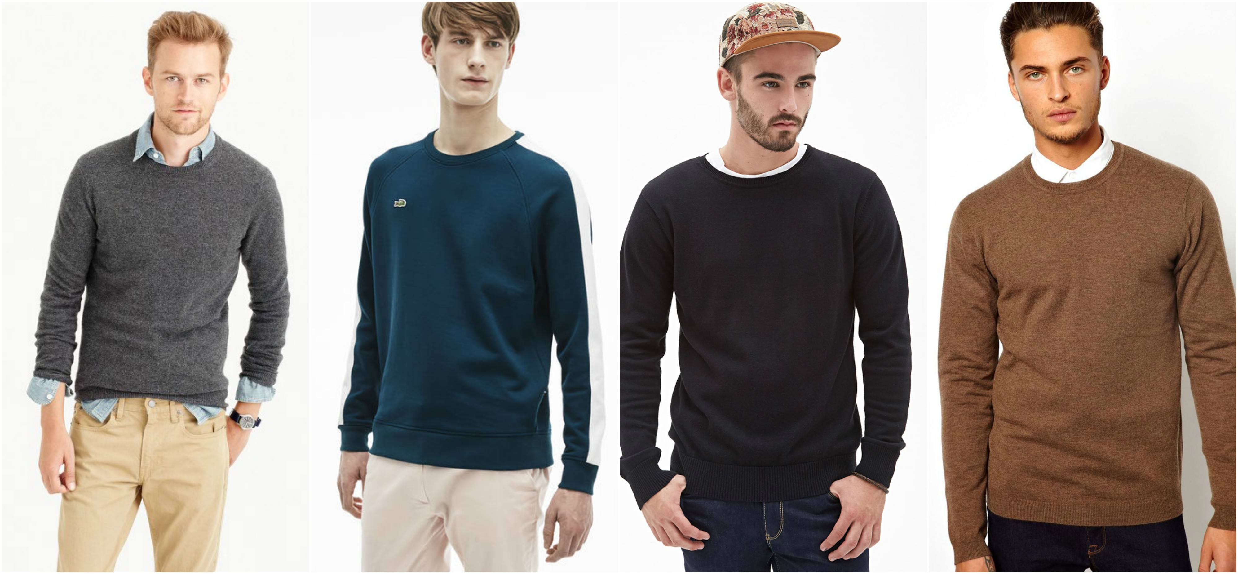 f87a914f6474 Sweater outfits for men – 17 Ways to Wear Sweaters Fashionably