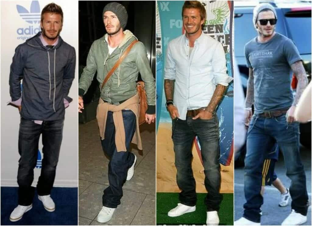 Black Shoes Blue Jeans Casual Outfit Men