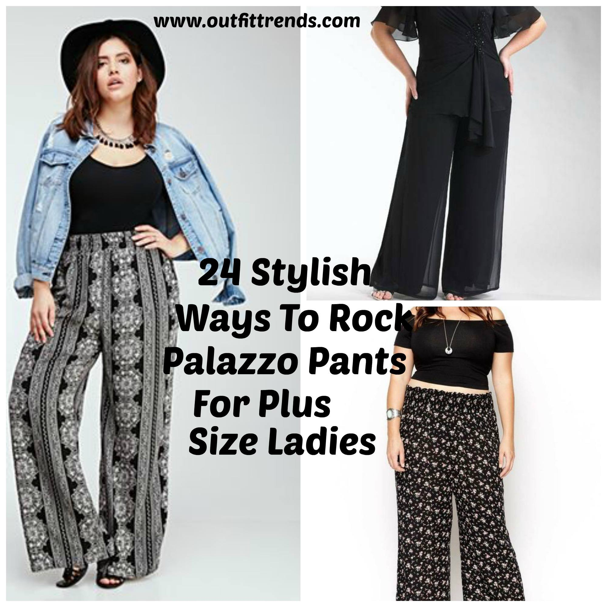 24b653949ab Palazzo Pants for Plus Size–24 Palazzo Outfit Ideas for Curvy Girls