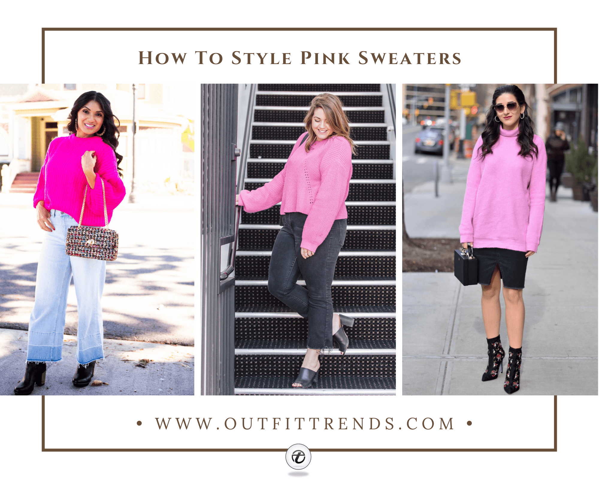 Outfit with Pink Sweater | 20 Ways to Style Pink Sweaters