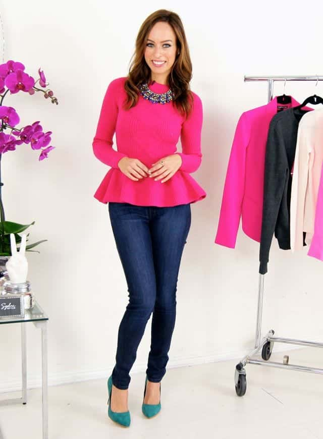 7ee10801b43 Outfit with Pink Sweater - 18 Ways to Wear Pink Sweaters