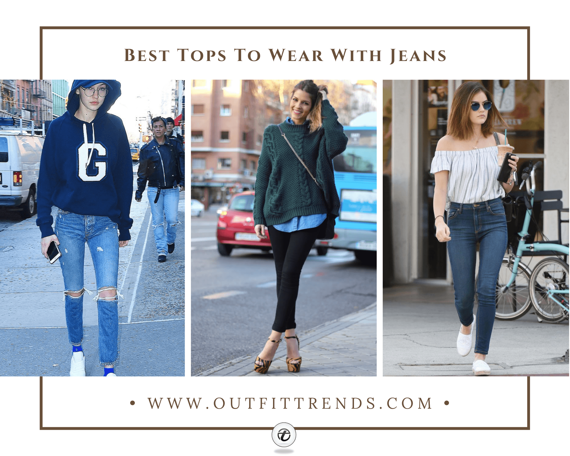 Best Tops to Wear with Jeans | 24 Jeans & Tops Outfit Ideas