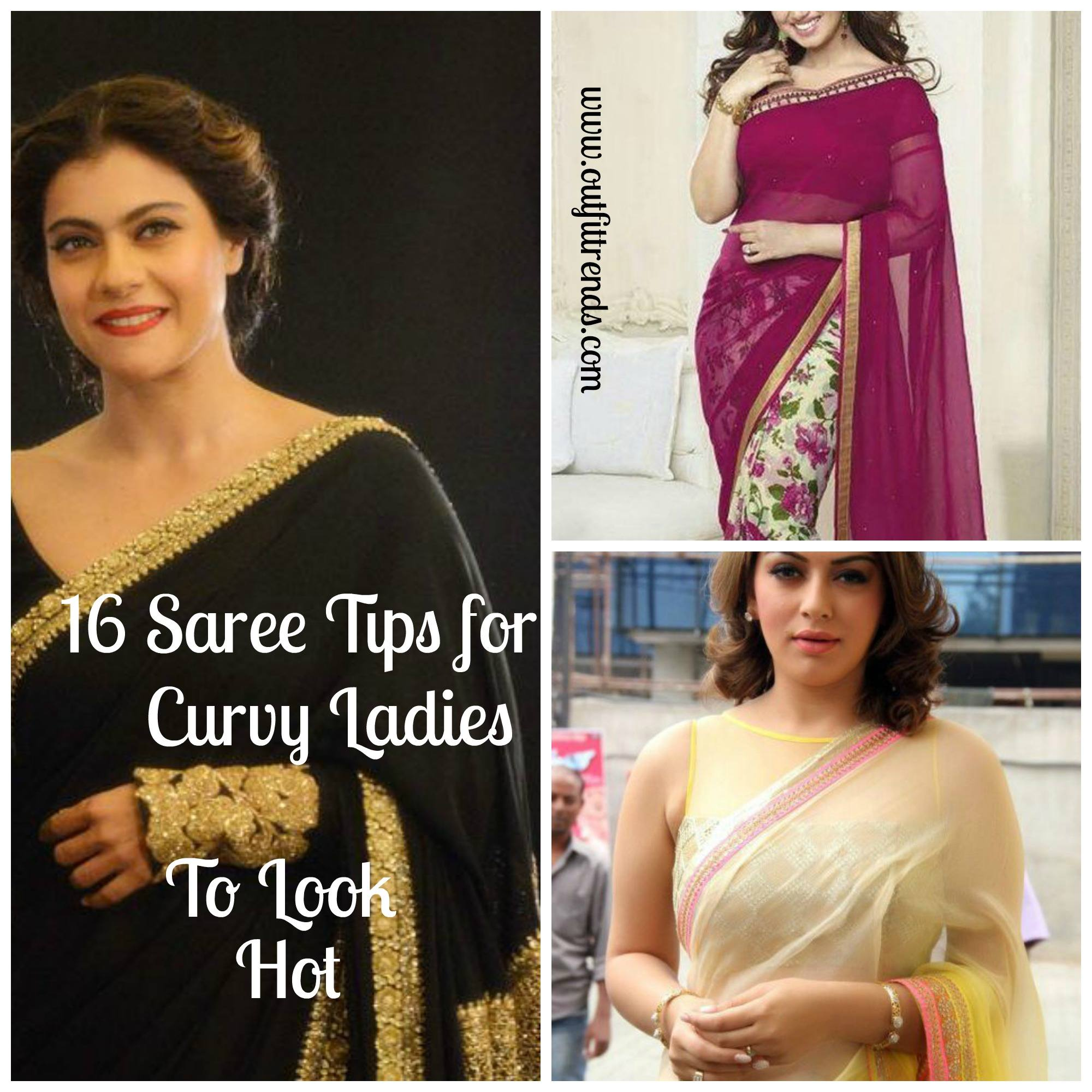 e1a24800ce1 How to Wear Saree for Plus Size–16 Saree Tips for Curvy Ladies