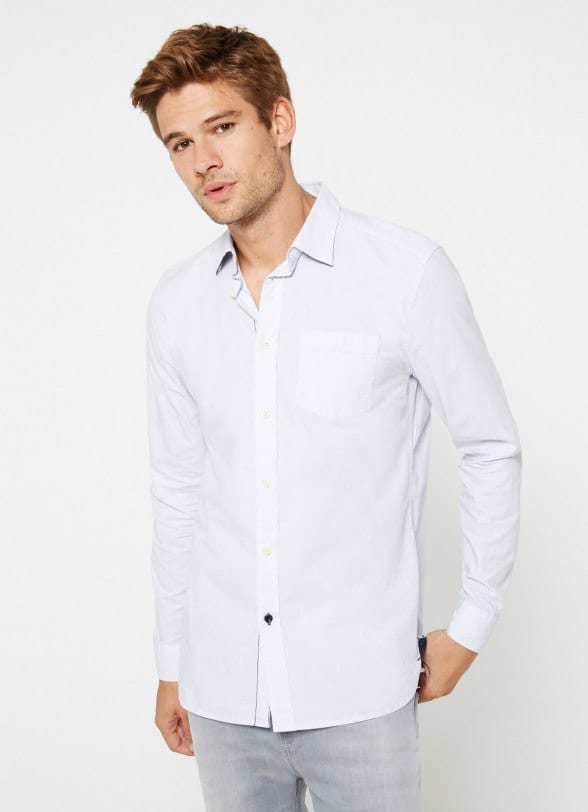 Gentleman Style-Classy White Shirt with Blue Jeans