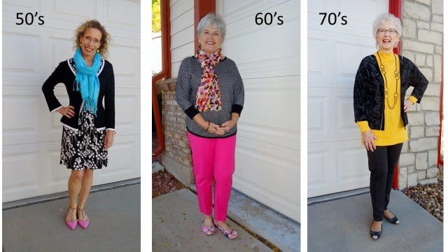 bright colors to wear for older women