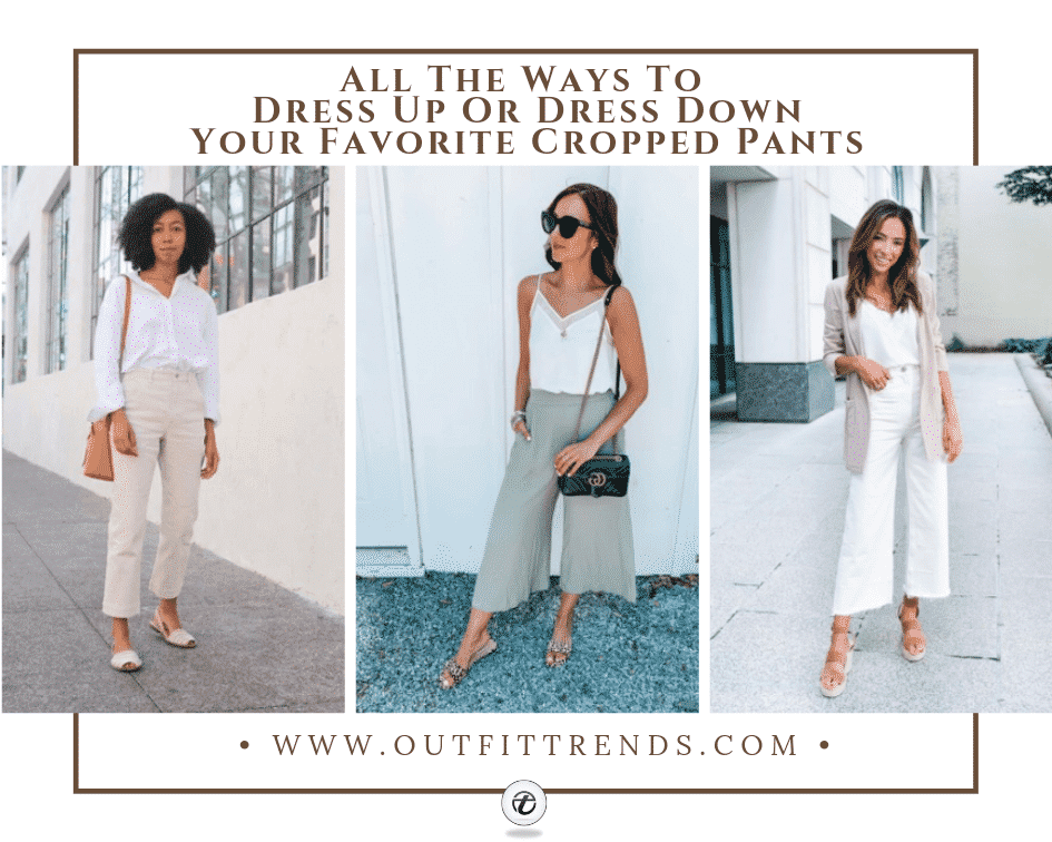 what to wear with cropped pants
