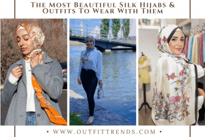 silk hijab latest styles