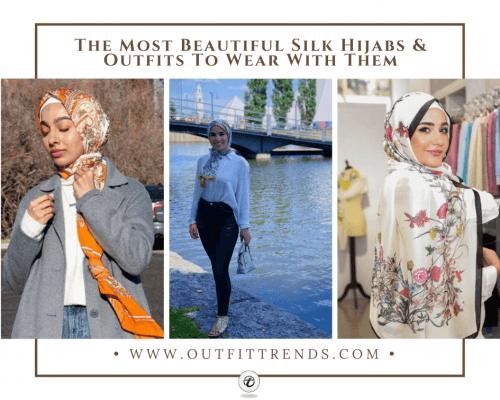 silk hijab latest styles