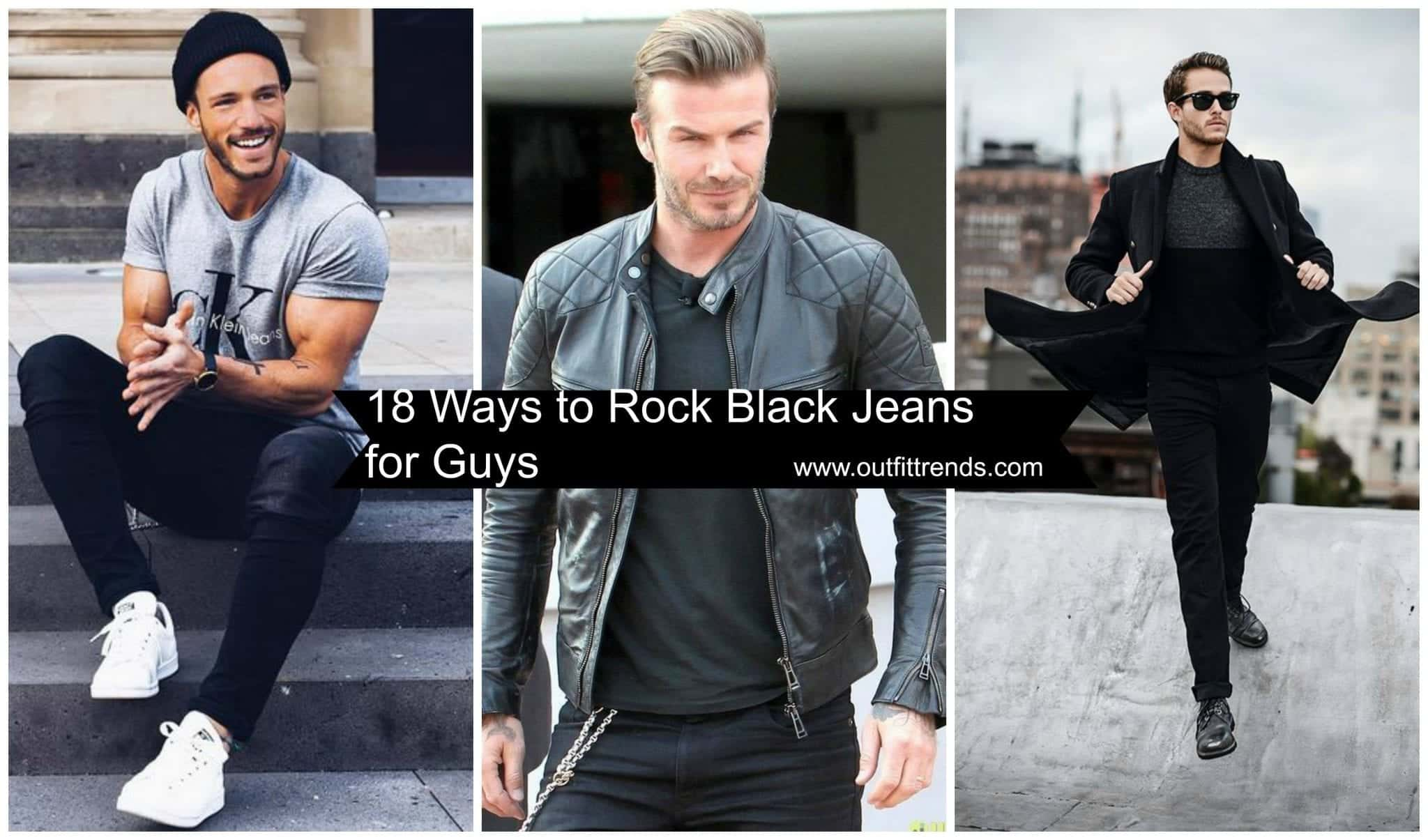 f7821729b25 Black Jeans Outfits for Men–18 Ways to Wear Black Jeans Guys