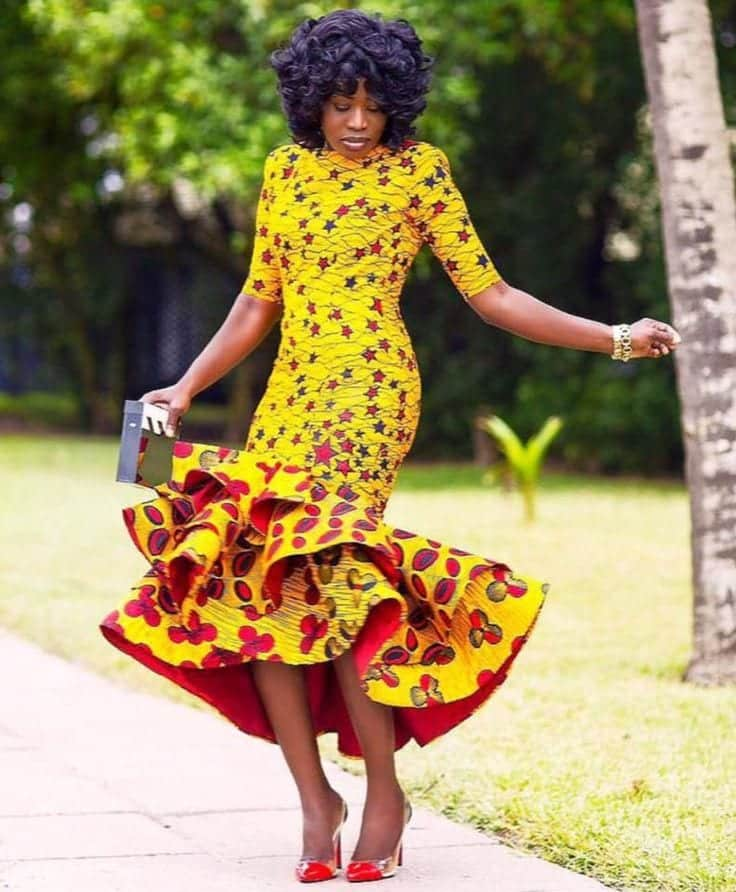 Simple Wedding Gowns In Kenya: Kitenge Dresses For Wedding-17 Beautiful Kitenge Bridal Design