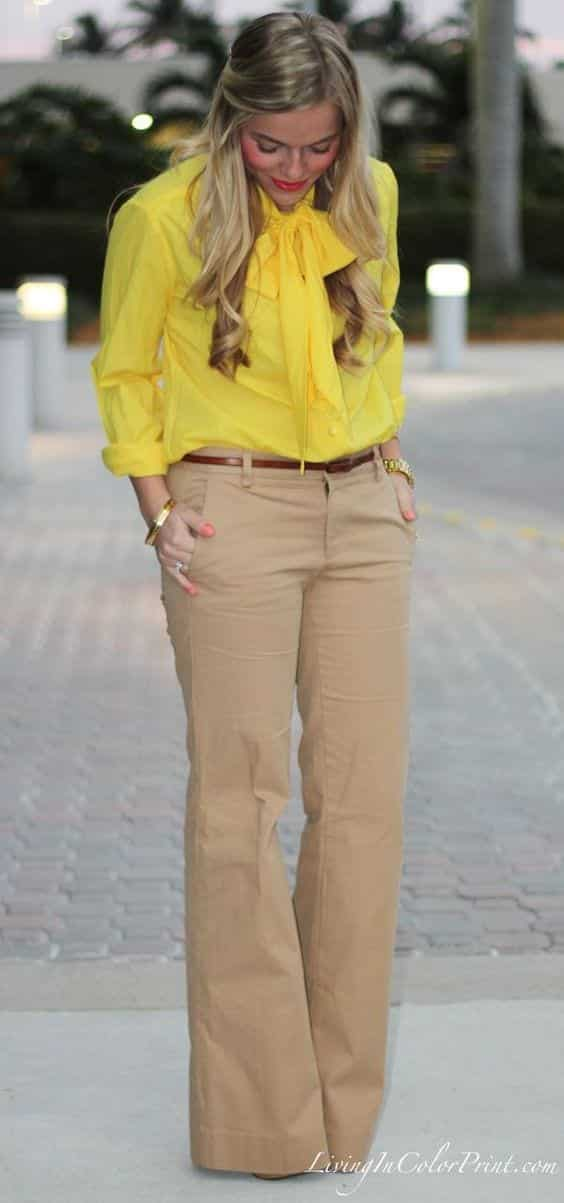 What Color Shirt Goes With Brown Shoes Womens