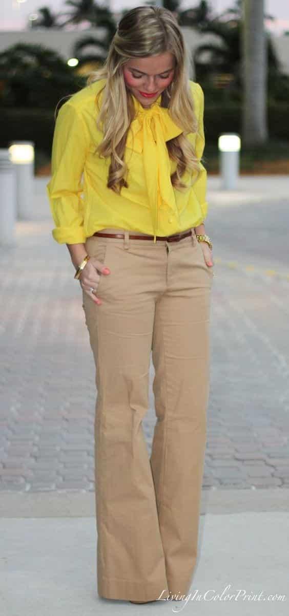 Yellow Skinny Jeans Womens