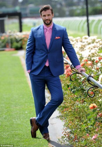 Blue Suits with Brown Shoes Ideas for Men