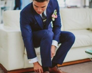Blue Suits with Brown Shoes Ideas for Men (25)