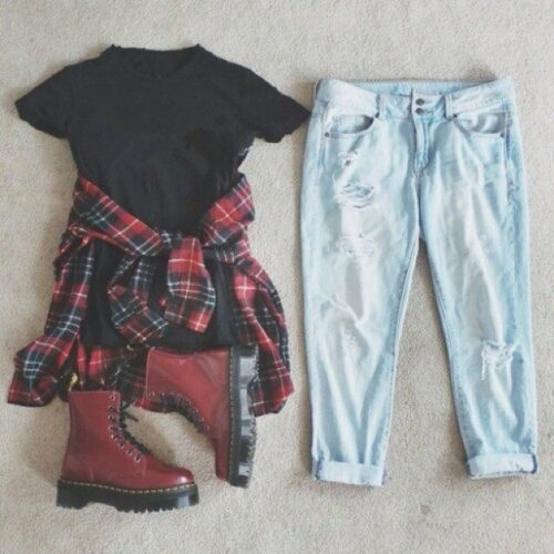 Flannel Outfit Ideas for Women (20)