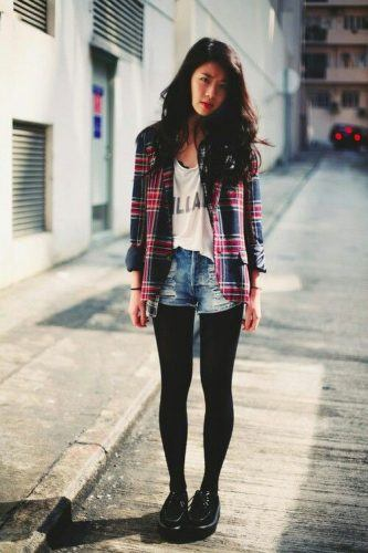 Flannel Outfit Ideas for Women (16)
