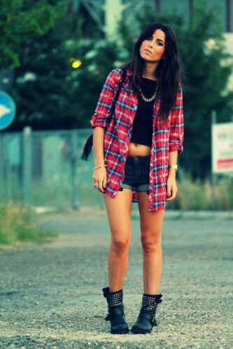 Flannel Outfit Ideas for Women (11)