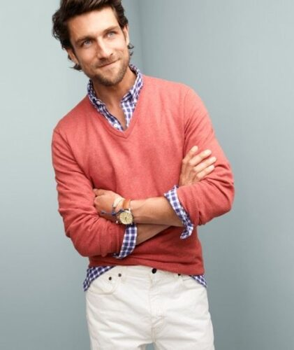 Mens Slim Fit Flannel Shirt