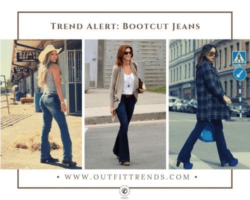 what to wear with bootcut jeans