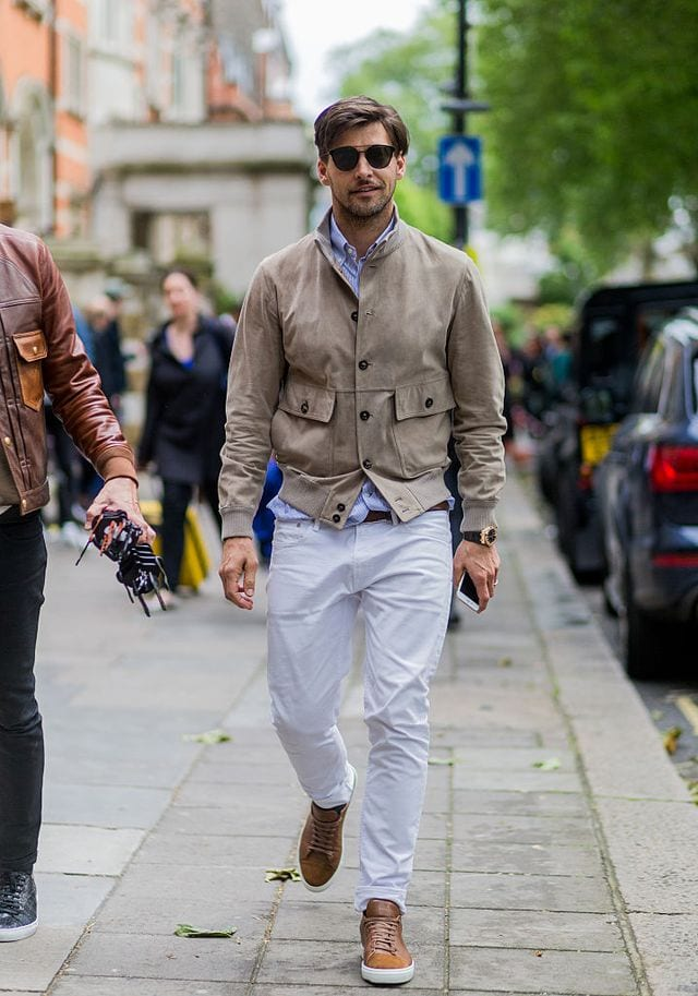 How to Wear White Pants Man
