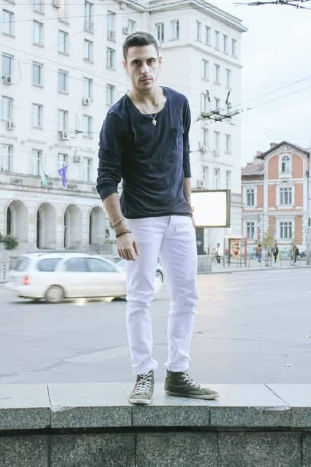 how to wear white jeans for men (26)