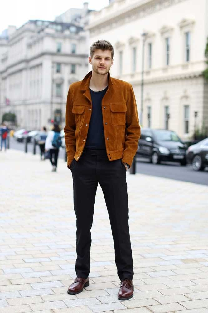 how to wear suede jacket for men (1)