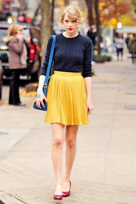 how to wear yellow skirt (2)