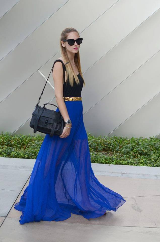 how to wear cobalt blue skirts (25)