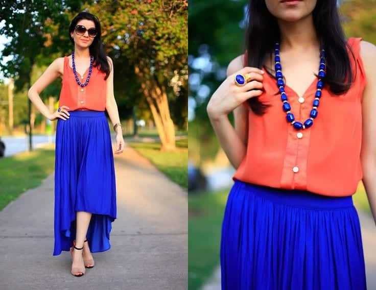 how to wear cobalt blue skirts (11)