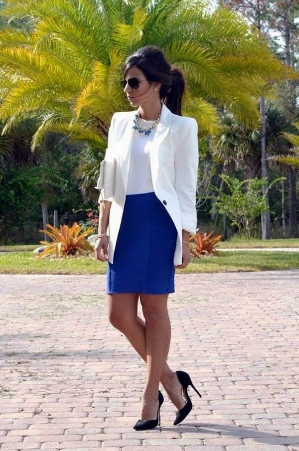 how to wear cobalt blue skirts (10)