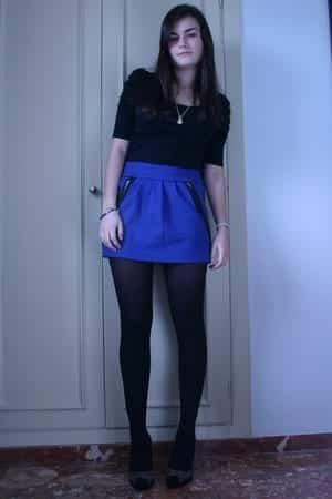 how to wear cobalt blue skirts (5)