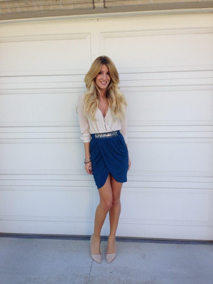 how to wear cobalt blue skirts (2)