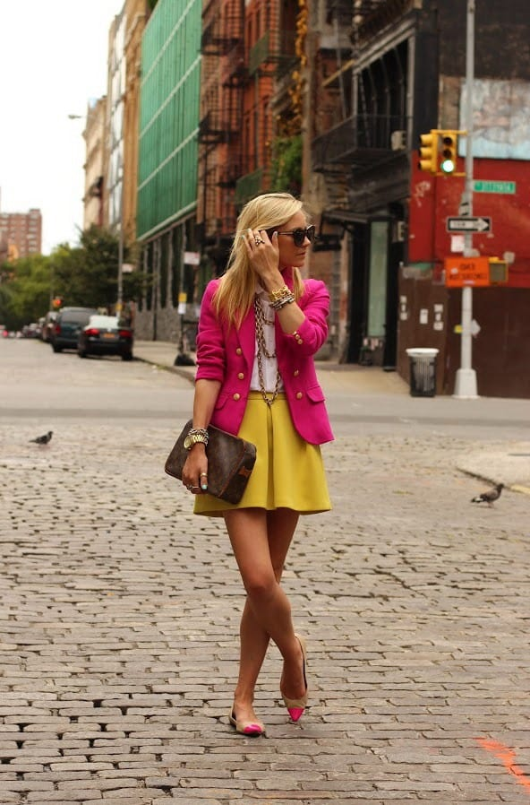 how to wear yellow skirt (4)