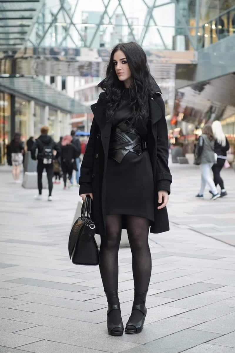 Girls black dress coats — photo 2