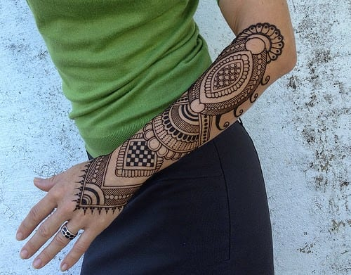 Henna Arm Tattoo: Trending Mehndi Designs-50 Latest Henna Tattoo Ideas For 2019