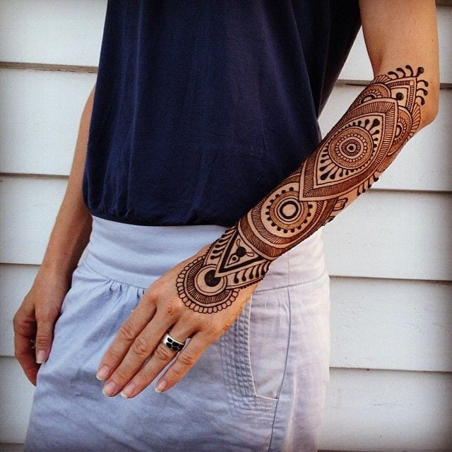 Easy Henna Tattoo Forearm: Trending Mehndi Designs-50 Latest Henna Tattoo Ideas For 2018