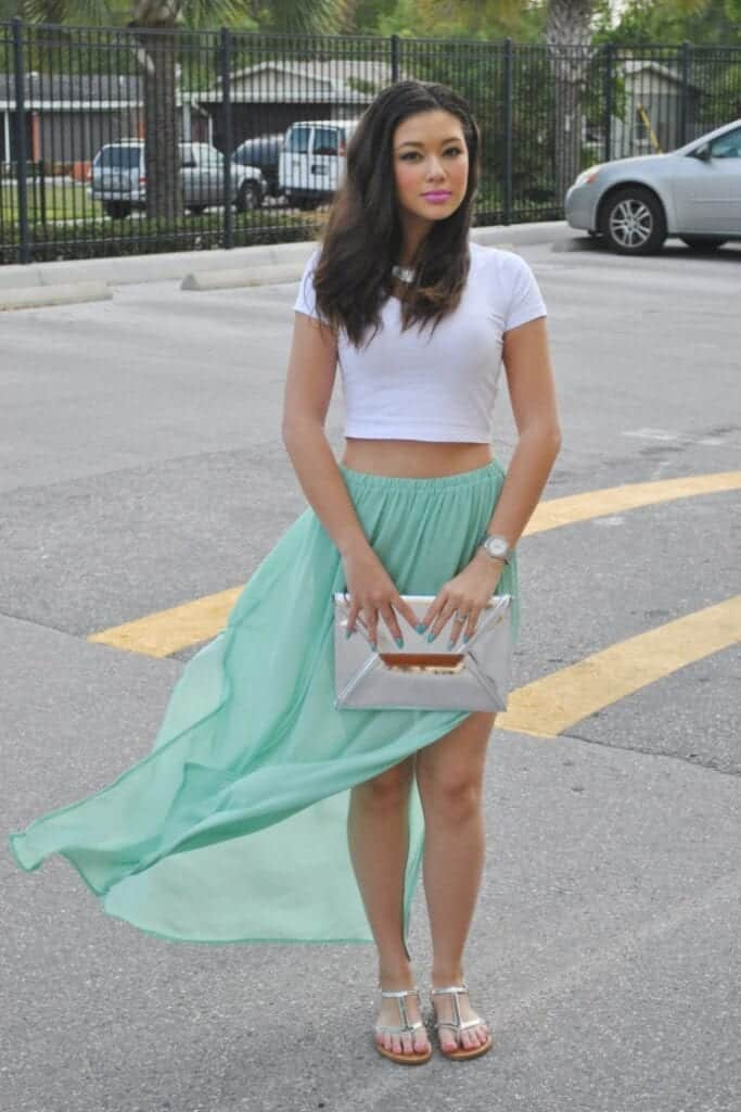 how to wear mint colored skirts (23)