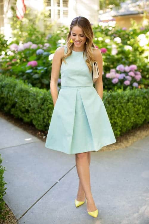 how to wear mint colored skirts (21)