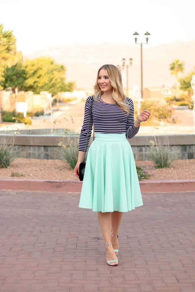 how to wear mint colored skirts (18)