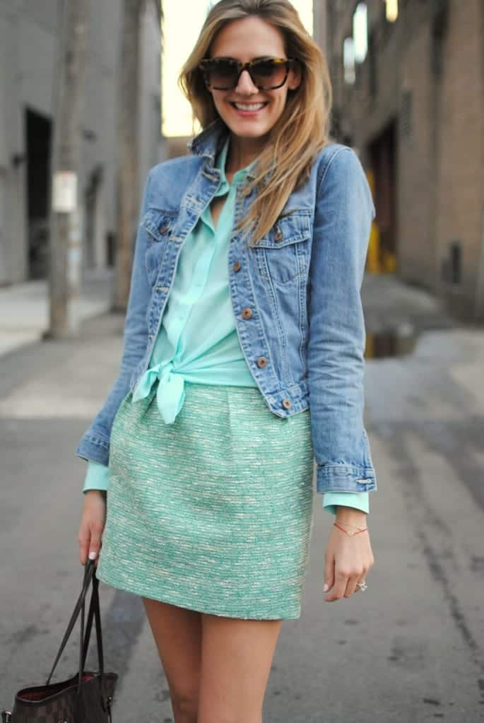 how to wear mint colored skirts (16)