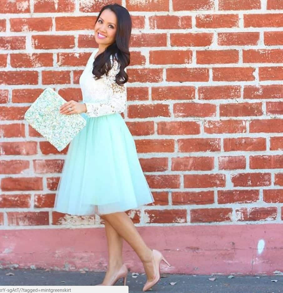 how to wear mint colored skirts (10)
