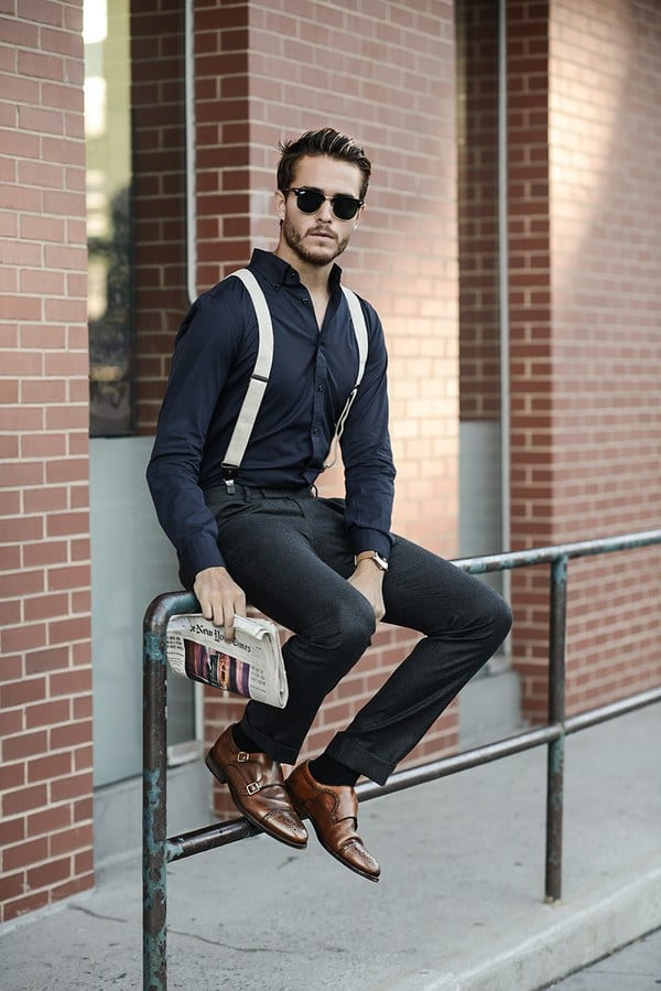 Men S Outfit With White Shoes