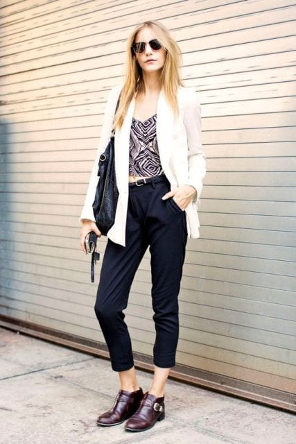 How to wear monk strap shoes for women (17)